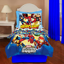 Superhero Twin Bedding Superhero Squad 4 Piece Toddler Bedding Set Toddler Walmart