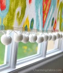 How To Make A No Sew Window Valance 9 Diy Tutorials How To Make No Sew Curtains Cheer And Cherry