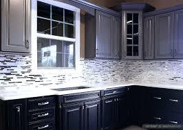 kitchen backsplash white cabinets dark countertop gray with grey