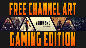 free template 2 gaming channel art youtube