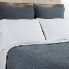 White Bed Sheets Twitter Header Pom Pom At Home Oslo Coverlet U0026 Sham Blue Denim Candelabra Inc