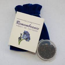 forget me not seed packets memorial cards and gifts renaissance urn company