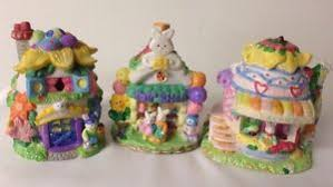 hoppy hollow easter easter hoppy hollow collectible ceramic bunnies figurines lot of 3