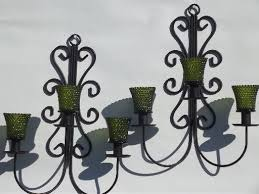 Vintage Wrought Iron Chandeliers Vintage Wrought Iron Wall Sconces Hanging Chandelier Candle Holders