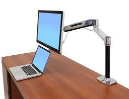standing desk mount lx height adjustable monitor arm ergotron