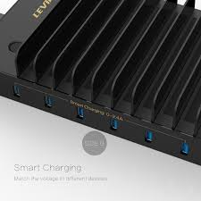 amazon com levin 10 port usb charging station dock with built in
