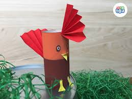 funky rooster toilet paper roll chicken craft for kids chicken