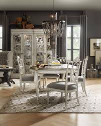 chatelet round oval pedestal dining room set by hooker furniture
