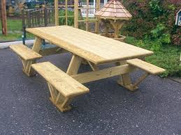 Building Plans For Picnic Table Bench by Diy Wood Outdoor Table Google Search Picnic Tables Pinterest