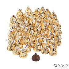 kisses 400 pc gold almond chocolate