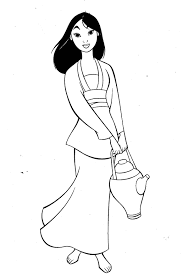 mulan bring drinking water mulan coloring pages pinterest