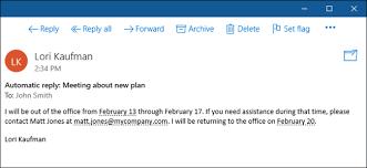 message d absence du bureau comment définir une réponse d absence du bureau dans windows 10 mail