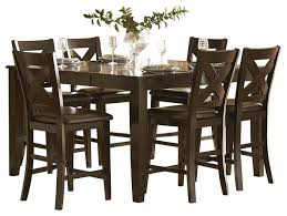Dining Room Table Counter Height Homelegance Crown Point 7 Piece Counter Height Dining Room Set