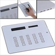 calculator hub 3 in 1 mouse pad with calculator usb hub light up blue mouse pad mat
