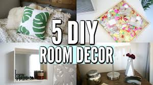 Diy Decorations For Home by 5 Diy Room Decor Ideas Easy Diy Room Decorations For 2017 Youtube