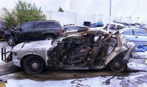 what makes a car explode and burn up when it crashes this