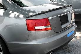 a carbon fiber trunk spoiler audi a6 c6 abt type 3 pieces sedan