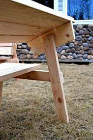 benches convert to picnic table made out of 2x4 and 2x6 u0027s for