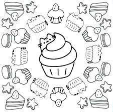 pusheen coloring pages paginone biz