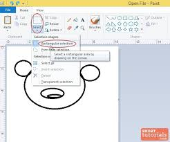 rectangle selection how to select rectangular area in ms paint