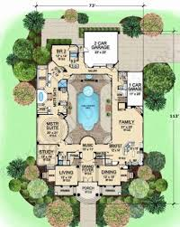 luxury house plans with pools house plans with courtyards luxury house plans courtyard pool house
