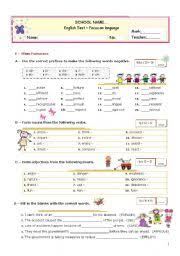 english exercises word formation prefixes u0026 suffixes
