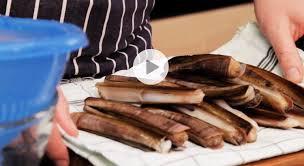 cuisiner des couteaux astuce cuisine comment cuisiner des couteaux de mer vidéo
