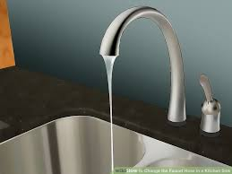 faucet kitchen sink how to change the faucet hose in a kitchen sink with pictures