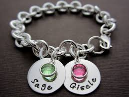 birthstone charm bracelet for two plus baby children name charm bracelet onlybracelet