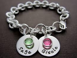 mothers bracelets with birthstones two plus baby children name charm bracelet onlybracelet