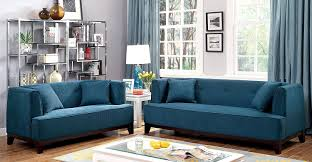 amazon com furniture of america elsa neo retro sofa teal