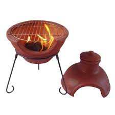 Red Clay Chiminea Gardeco Cozumel Large Red Clay Chiminea With Grill Internet Gardener