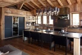 cuisine chalet bois constructions wood concept megeve chalets vieux bois walk in