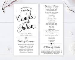 wedding programs cheap cheap wedding programs printed on white premium paper