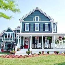 blue house white trim blue house red door blue house red door new ideas gray house red