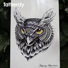 waterproof temporary tattoo sticker on body owl tattoos big water