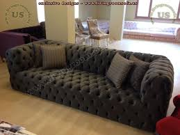 Black Fabric Modern Chesterfield Style Sofa Interior Design - Chesterfield sofa design
