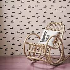 ferm living rabbit wallpaper rose