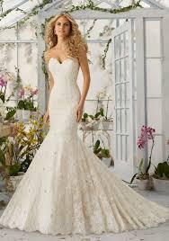 Mori Lee Wedding Dresses Morilee Bridal Allover Alencon Lace Mermaid Wedding Dress With