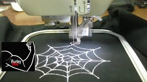 halloween spider web embroidery design created w sophiesew