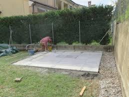 Betonella Prezzi by Realizzare Un Basamento Per Casette Di Legno