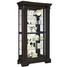 Darby Home Furniture Double Glass Door Curio Cabinet