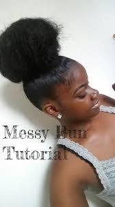 pics of black pretty big hair buns with added hair messy bun tutorial youtube