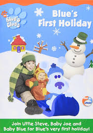amazon com blue u0027s clues blue u0027s first holiday steve burns