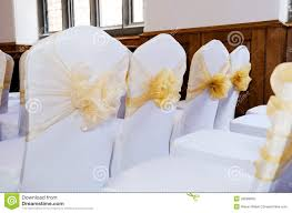 White Banquet Chair Covers Wedding Chair Covers Stock Photo Image 33598900