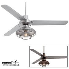 Caged Ceiling Fan With Light 7 Rustic Industrial Ceiling Fans With Cage Lights You U0027ll Love