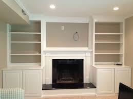 Wood Fireplace Mantel Shelves Designs by Fireplace With Built In Bookshelves Custom Trimwork And