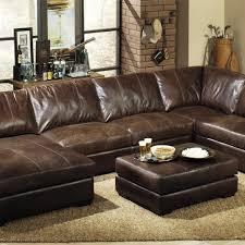 Custom Leather Sectional Sofa Extra Deep Leather Sectional Sofa Seated Custom Cushions Outlet