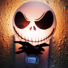 Glass Halloween Ornaments by Jack Skellington Night Light Nightmare Before Christmas Inspired