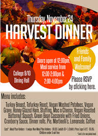 dean of students office holds harvest dinner on cus